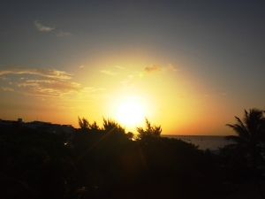 Sunrise on July 11 before Cozumel