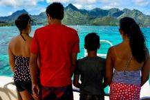 Sailing around Tahiti