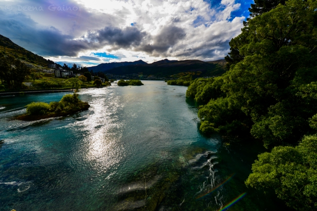 The river we crossed as we entered Queenstown