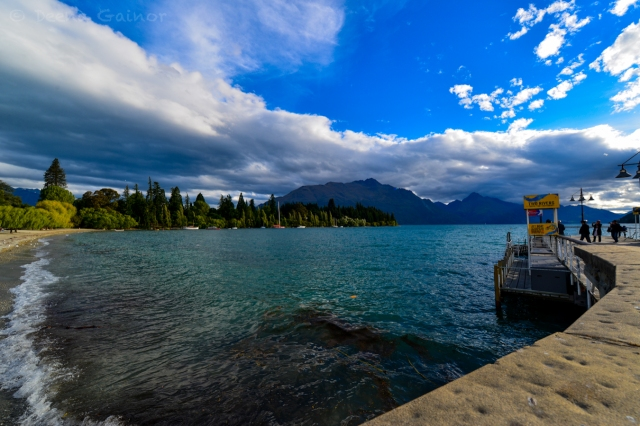 The shoreline of Queenstown