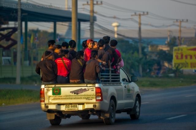 Early morning carpool
