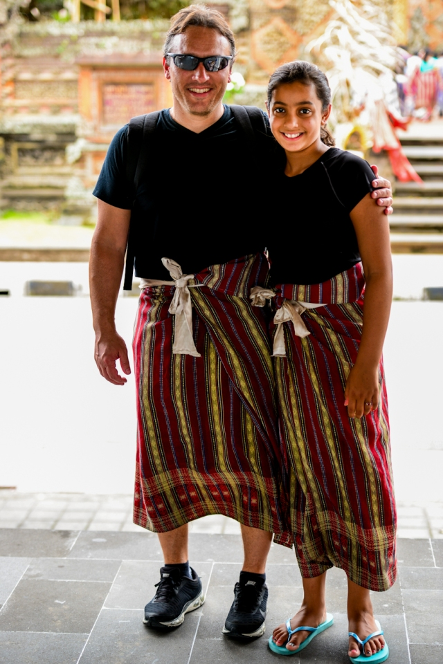 Visiting a temple near Bali