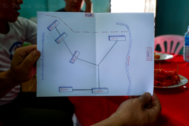 Map of the Hill Tribes Noah is working with