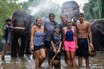 Elephant Shower at Patara