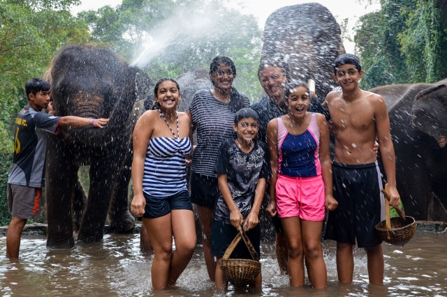 Elephant Shower!
