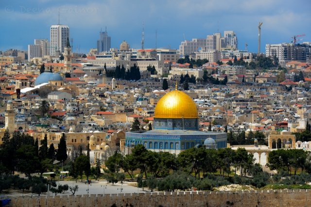 Dome of the Rock - View from Mount of Olives